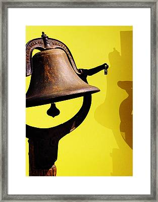 Framed Print featuring the photograph Ship's Bell by Rebecca Sherman