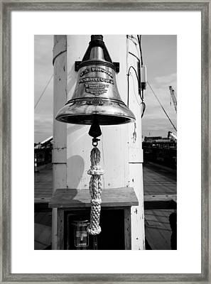 Ships Bell Uss Constitution Framed Print