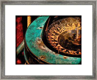 Ship's Compass Framed Print by Tony Grider