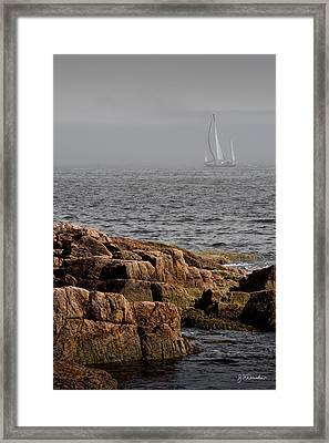 Ships Harbor In Maine Framed Print by James Dricker
