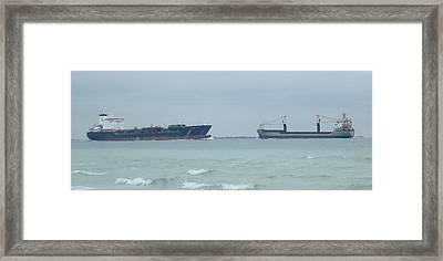 Ships Meet Framed Print