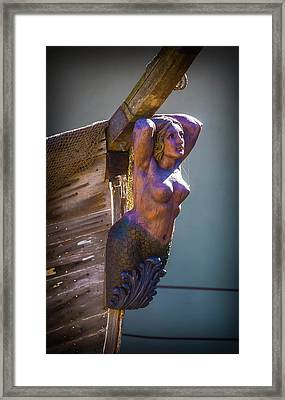 Ships Mermaid Framed Print by Garry Gay