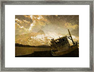 Shipwreck - Reload Framed Print by Jeff Burgess