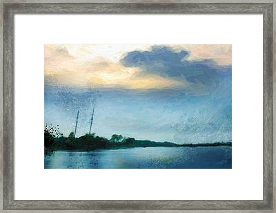 Shipwreck From A Distance 1 Framed Print by Chamira Young