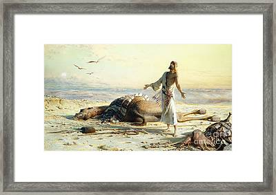 Shipwreck In The Desert Framed Print by Carl Haag