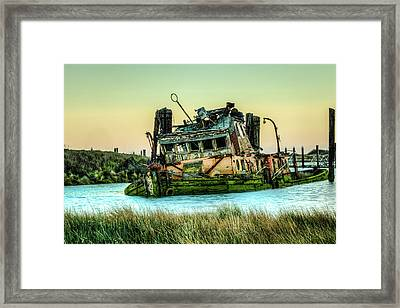 Shipwreck - Mary D. Hume Framed Print