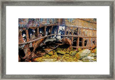 Shipwreck On Inisheer 3 Framed Print by Lexa Harpell