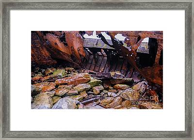 Shipwreck On Inisheer 4 Framed Print by Lexa Harpell
