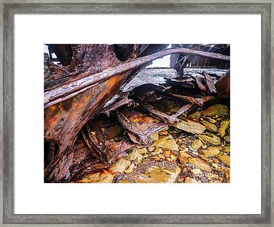 Shipwreck On Inisheer 5 Framed Print by Lexa Harpell