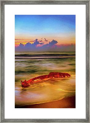 Shipwreck On The Outer Banks The End Ap Framed Print by Dan Carmichael