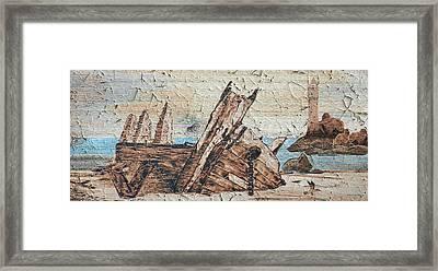 Shipwreck Peeling Paint Framed Print by Ken Figurski