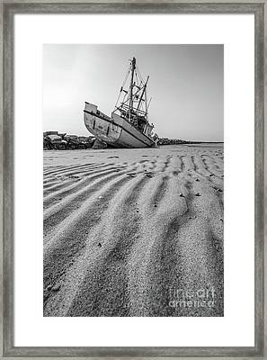 Framed Print featuring the photograph Shipwreck Provincetown by Edward Fielding