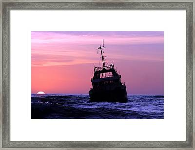 Framed Print featuring the photograph Shipwreck by Riana Van Staden