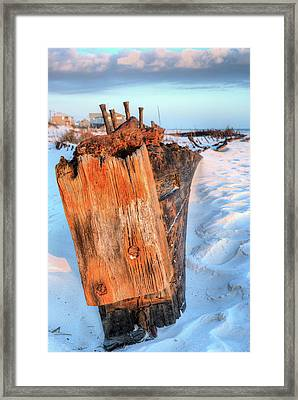 Shipwrecked In Fort Morgan Framed Print by JC Findley