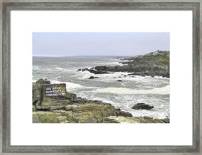 Framed Print featuring the digital art Shipwrecked by Sharon Batdorf