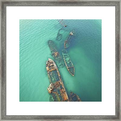 Shipwrecks Framed Print