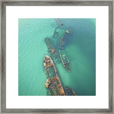 Shipwrecks Framed Print