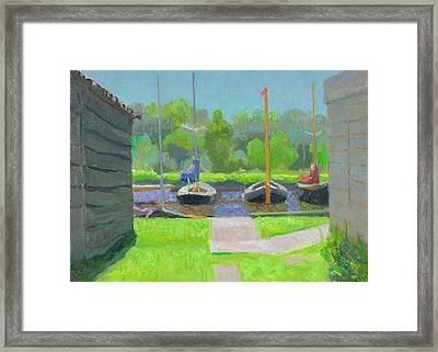 Shipyard After The Rain  Framed Print by Ben Rikken