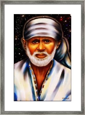 Shirdi Sai Baba Framed Print by Carmen Cordova