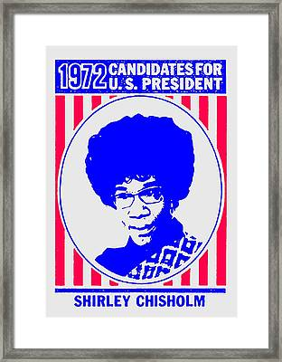 Shirley Chisholm Catalyst 1972 Framed Print