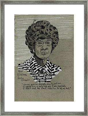 Shirley Chisholm Framed Print