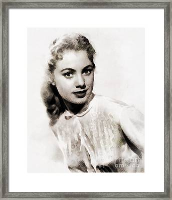Shirley Jones, Vintage Actress Framed Print