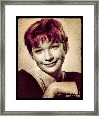 Shirley Maclaine, Hollywood Actress By John Springfield Framed Print