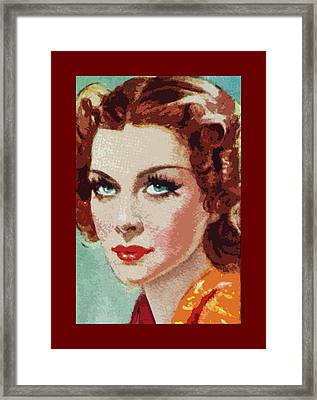 Shirley Ross Framed Print by James Hill
