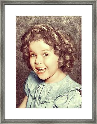 Shirley Temple, Actress Framed Print