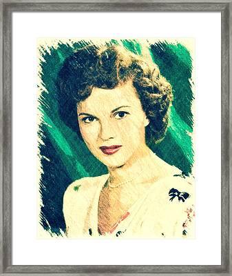 Shirley Temple By John Springfield Framed Print by John Springfield