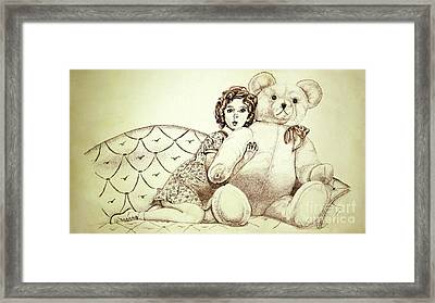 Shirley Temple Framed Print by Linda Simon
