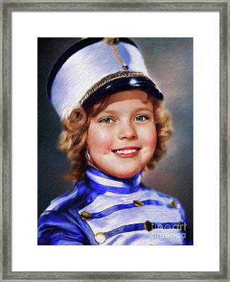 Shirley Temple, Vintage Actress Framed Print