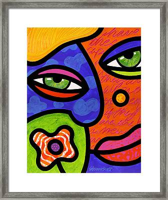 Shirley Whirly-gig Framed Print