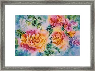 Shirleys-roses Framed Print by Nancy Newman