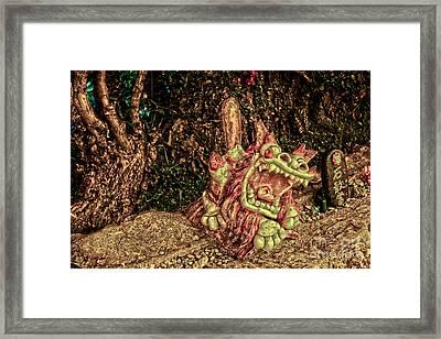 Shishi Dog Framed Print
