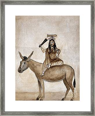 Shitala Mara, Hindu Goddess Of Smallpox Framed Print