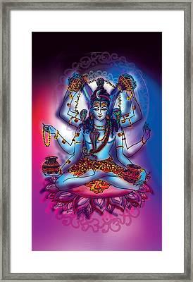 Shiva Abhishek  Framed Print