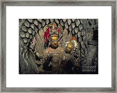 Shiva And Parvati - Pattan Royal Palace Nepal Framed Print