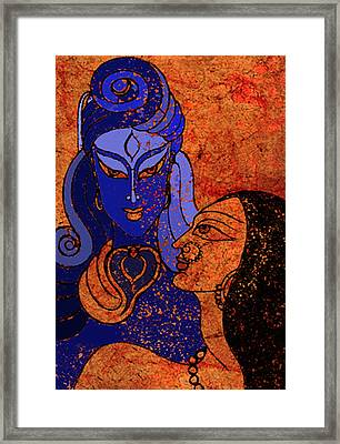 Shiva And Shakti Framed Print by Sonali Chaudhari