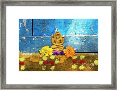 Shiva Blessings Framed Print by Tim Gainey