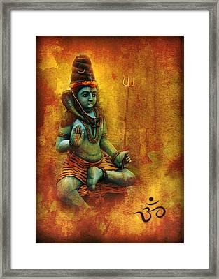 Shiva Hindu God Framed Print