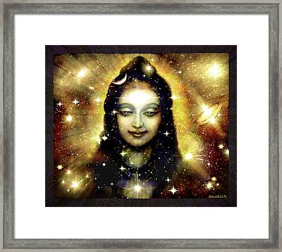 Shiva In Golden Space  Framed Print