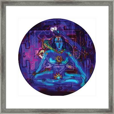 Shiva In Meditation Framed Print