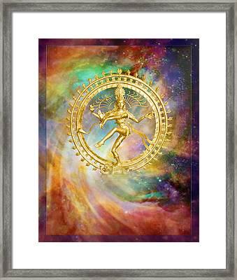 Shiva Nataraja - The Lord Of The Dance Framed Print by Ananda Vdovic
