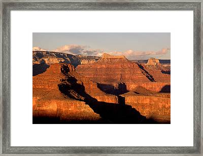 Shiva Temple  At Sunset Grand Canyon National Park Framed Print