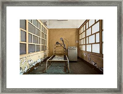 Shock Therapy - Abandoned Mental Institution Framed Print by Dirk Ercken