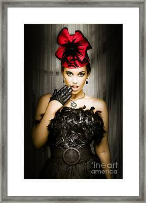 Shocked Cabaret Girl Framed Print by Jorgo Photography - Wall Art Gallery