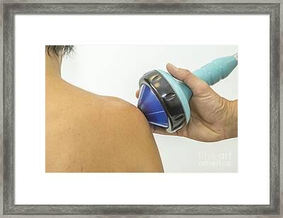 Shockwave Treatment On Shoulder Framed Print