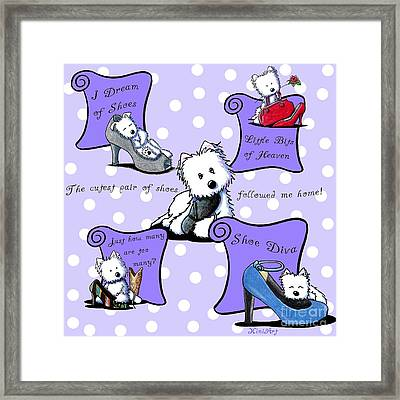 Shoe Diva Westies Framed Print