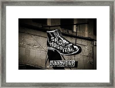 Shoe Hospital Framed Print by Phillip Burrow